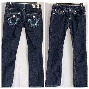 True Religion Skinny Low Rise Flap Pockets Jeans